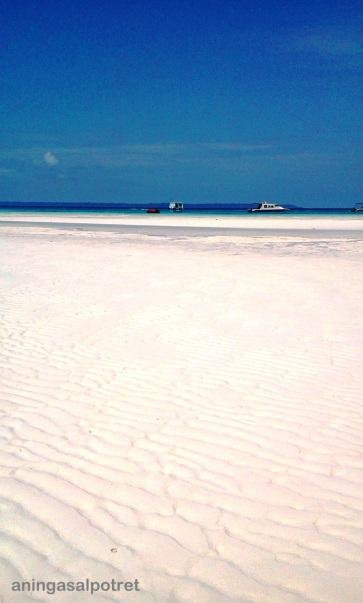 crystal clean sand...