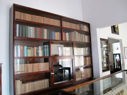 koleksi buku-buku di ruang kerja