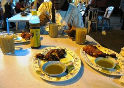 menu makan malam di pak putra restaurant