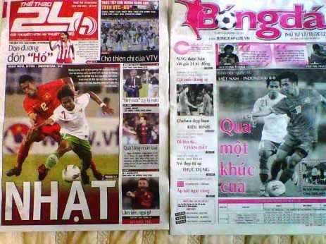 Headline di dua surat kabar lokal soal uji coba